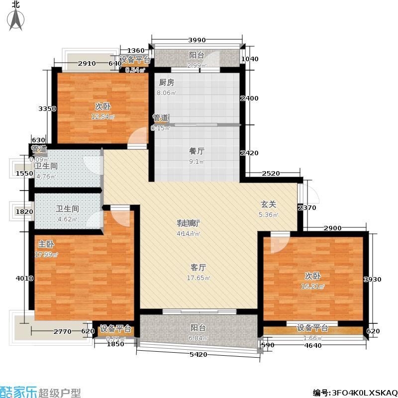嘉宝都市港湾城141.47㎡一期房型面积14147m户型