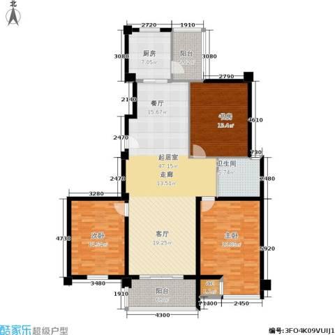 福缘雅居3室0厅1卫1厨136.00㎡户型图