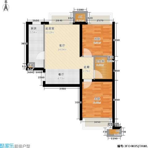 金融街·融汇2室0厅1卫1厨76.00㎡户型图