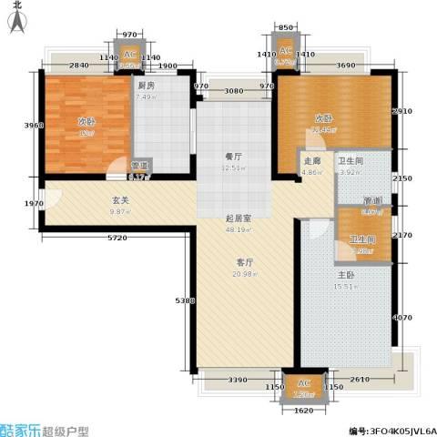 金融街·融汇3室0厅2卫1厨117.00㎡户型图