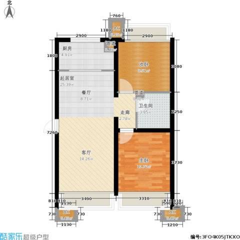 金融街·融汇2室0厅1卫1厨84.00㎡户型图