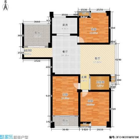 喜盈门3室0厅1卫1厨167.00㎡户型图