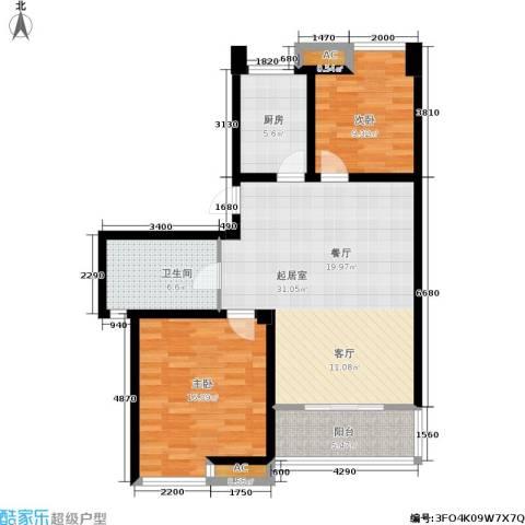 喜盈门2室0厅1卫1厨108.00㎡户型图