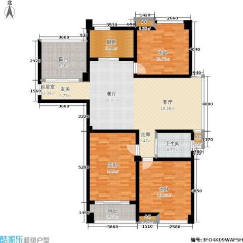 喜盈门3室0厅1卫1厨130.00㎡户型图