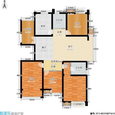 喜盈门4室0厅2卫1厨198.00㎡户型图