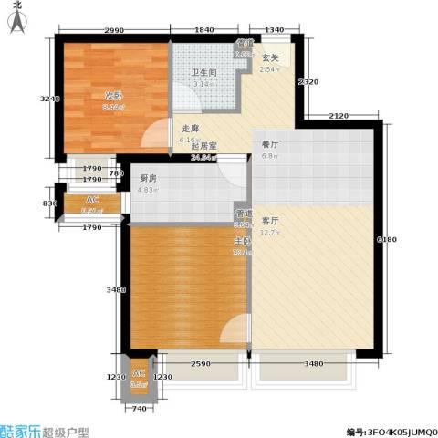 金融街·融汇2室0厅1卫1厨79.00㎡户型图