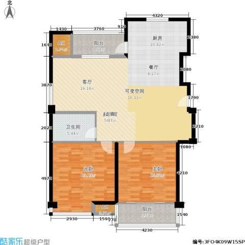 福缘雅居2室0厅1卫0厨114.00㎡户型图