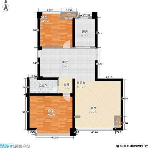 喜盈门2室0厅1卫1厨129.00㎡户型图