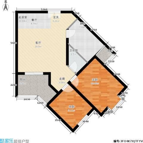 芙蓉新天地2室0厅1卫1厨80.00㎡户型图