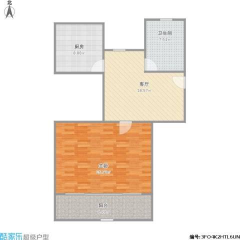 共康七村1室1厅1卫1厨94.00㎡户型图