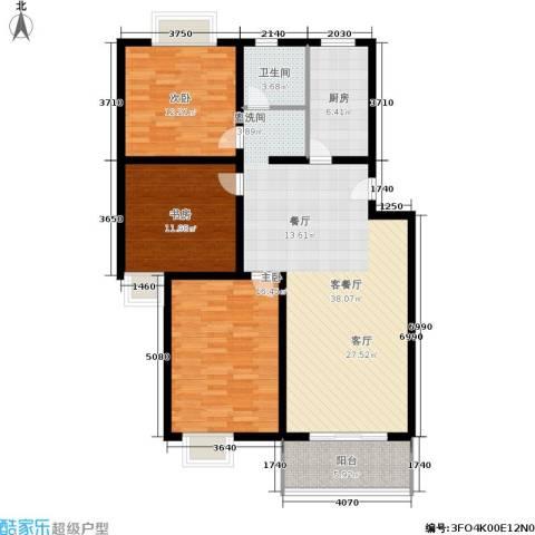 望燕名居3室1厅1卫1厨134.00㎡户型图