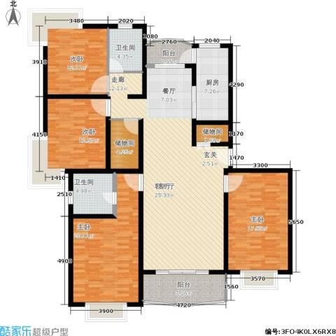 嘉宝都市港湾城4室1厅2卫1厨168.00㎡户型图
