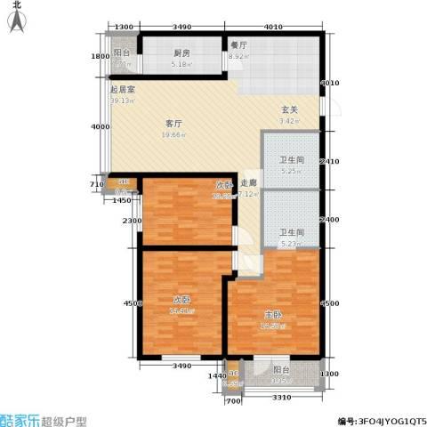 和平时光3室0厅2卫1厨143.00㎡户型图