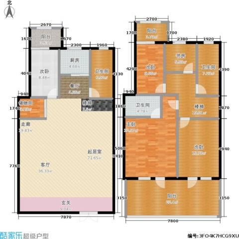 绿江太湖城金色水岸5室0厅3卫1厨221.00㎡户型图