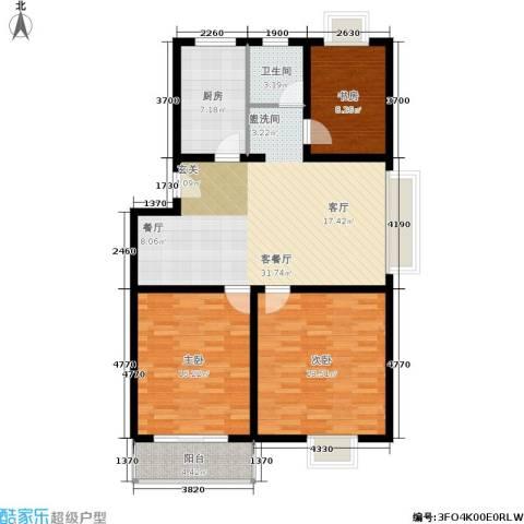 望燕名居3室1厅1卫1厨126.00㎡户型图