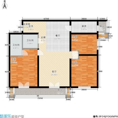 和平时光3室0厅2卫1厨153.00㎡户型图