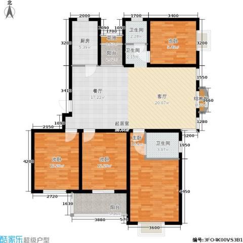 百家湖西苑4室0厅2卫1厨140.00㎡户型图