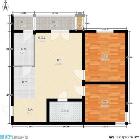 和平时光2室0厅1卫1厨97.00㎡户型图