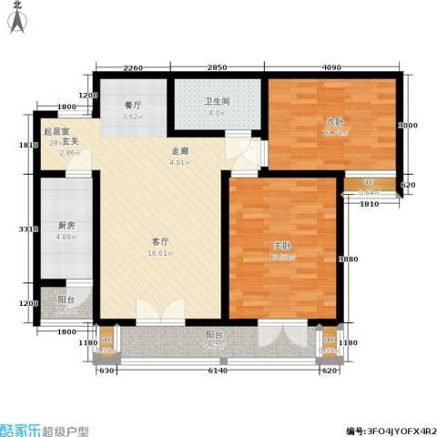 和平时光2室0厅1卫1厨103.00㎡户型图
