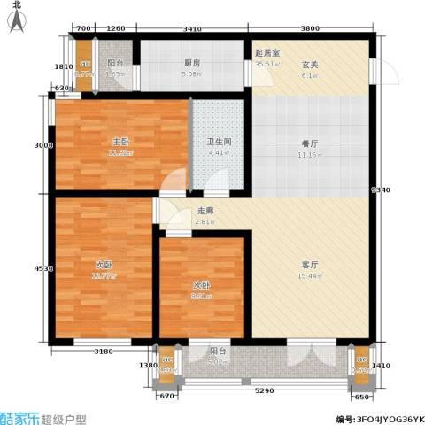 和平时光3室0厅1卫1厨117.00㎡户型图