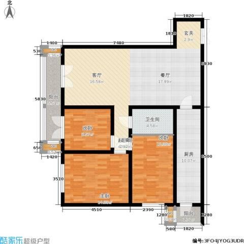 和平时光3室0厅1卫1厨136.00㎡户型图