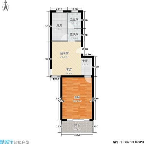 望燕名居1室0厅1卫1厨75.00㎡户型图
