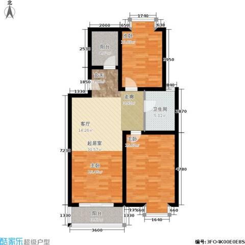 望燕名居2室0厅1卫0厨100.00㎡户型图