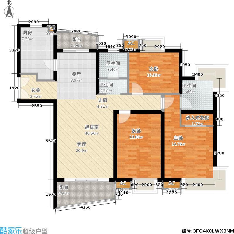 淡水湾花园上海8号楼C型户型