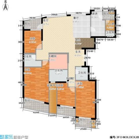翠湖天地御苑4室1厅4卫1厨192.52㎡户型图