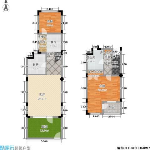 叠墅ONE2室1厅1卫1厨110.42㎡户型图