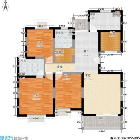 白雪公主3室0厅2卫1厨118.34㎡户型图