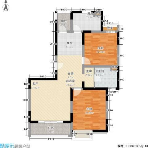 白雪公主2室0厅1卫1厨91.89㎡户型图