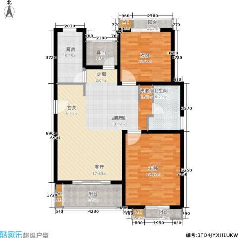 众众德尚世嘉2室0厅1卫1厨110.43㎡户型图