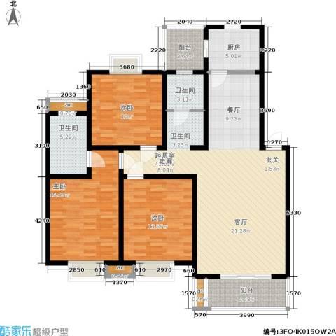 武夷商城3室0厅2卫1厨129.00㎡户型图