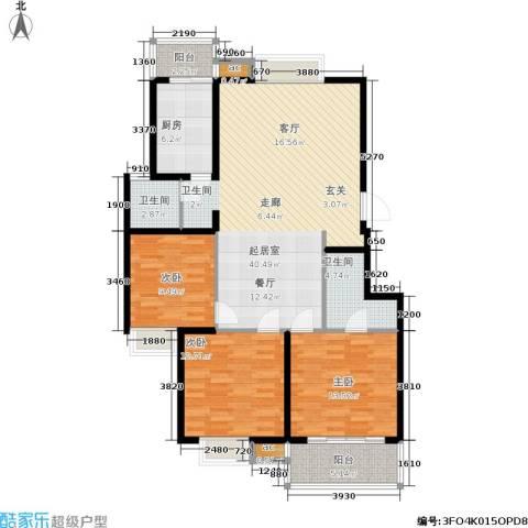 武夷商城3室0厅2卫1厨114.00㎡户型图