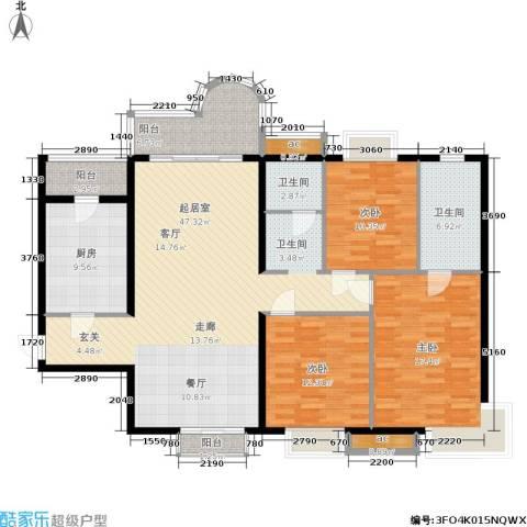 武夷商城3室0厅2卫1厨137.00㎡户型图