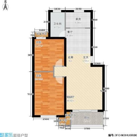 春江锦庐2室1厅1卫1厨112.00㎡户型图