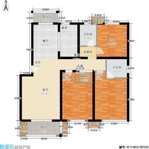 开元新都3室0厅2卫1厨135.00㎡户型图