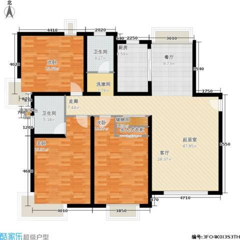 开元新都3室0厅2卫1厨133.00㎡户型图