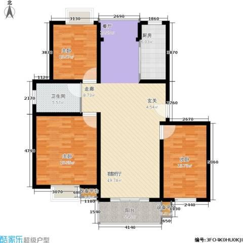 春江锦庐3室1厅1卫1厨146.00㎡户型图