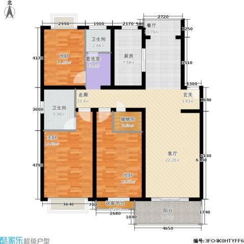 春江锦庐3室1厅2卫1厨173.00㎡户型图