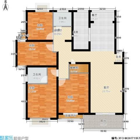 春江锦庐4室1厅2卫1厨206.00㎡户型图