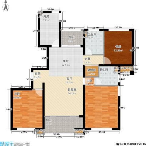 开元新都3室0厅2卫1厨144.00㎡户型图