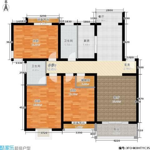 春江锦庐3室1厅2卫1厨162.00㎡户型图