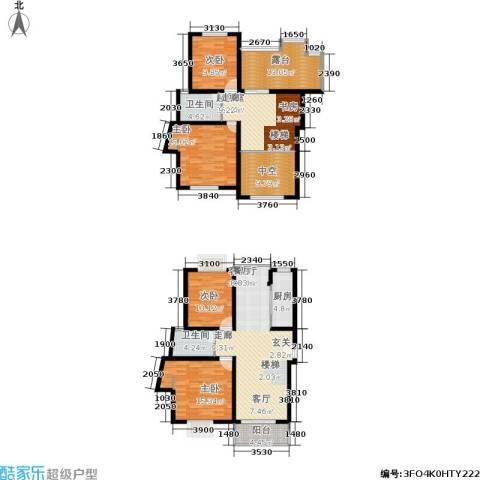 春江锦庐4室1厅2卫1厨196.00㎡户型图