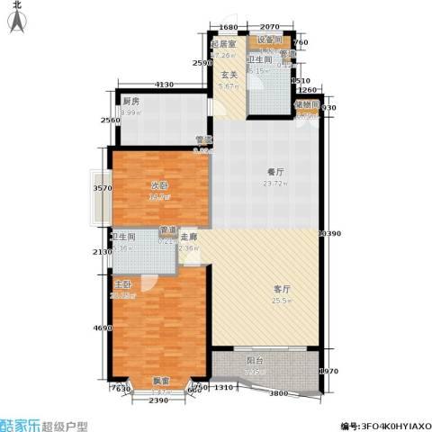 控江一村2室0厅2卫1厨140.00㎡户型图