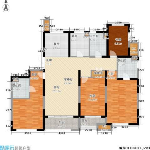 星河世纪城4室1厅3卫1厨170.00㎡户型图