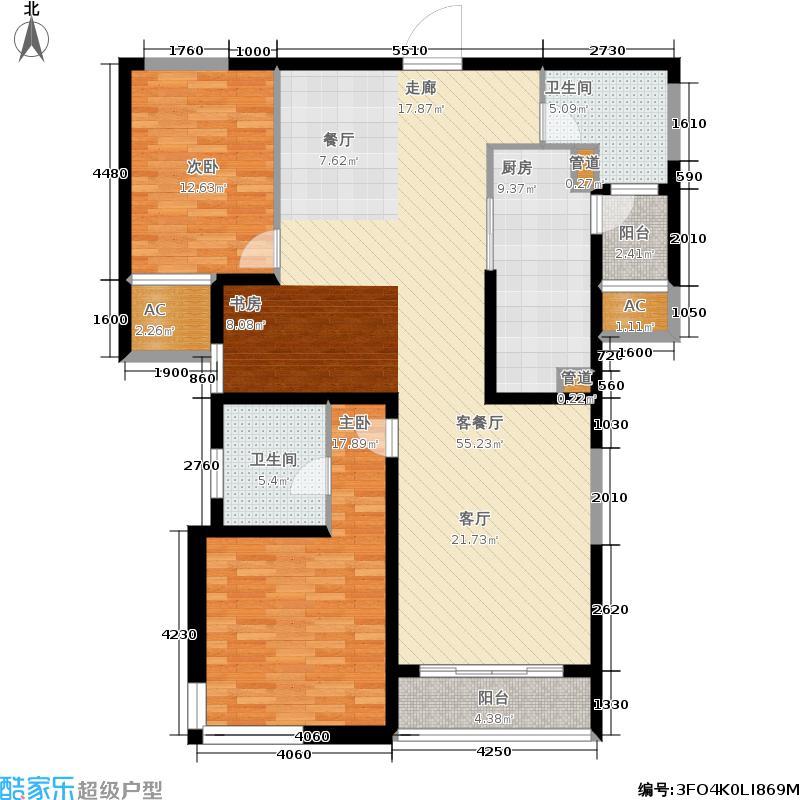 汇豪天下6号楼3至15层02-03型户户型