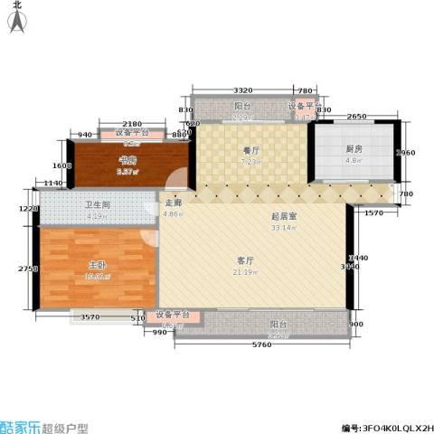 淞南五村2室0厅1卫1厨73.00㎡户型图