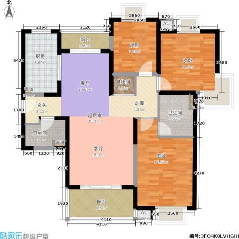 九歌上郡3室0厅2卫1厨139.00㎡户型图